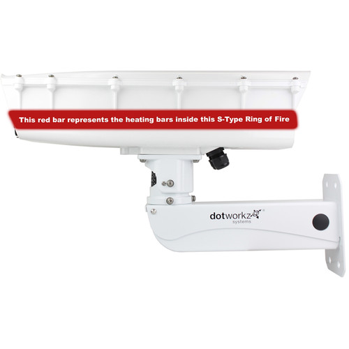 Dotworkz S-Type Ring of Fire De-Icing Camera Enclosure with Stainless Steel Arm