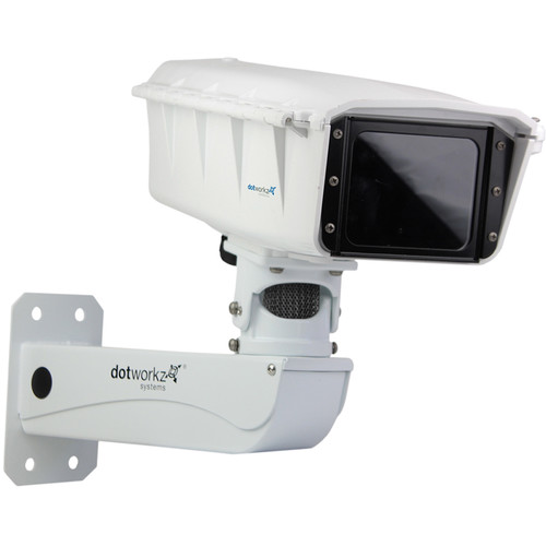 Dotworkz S-Type Static IP66 Tornado Dual Blower Camera Enclosure with PoE and Stainless-Steel Arm