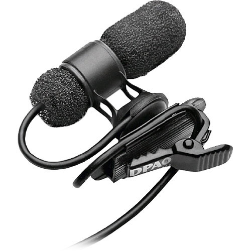 DPA Microphones d:screet mini 4080 Miniature Cardioid Lavalier Microphone with a Hardwired 3-Pin LEMO Connector for Sennheiser Wireless Systems (Black)