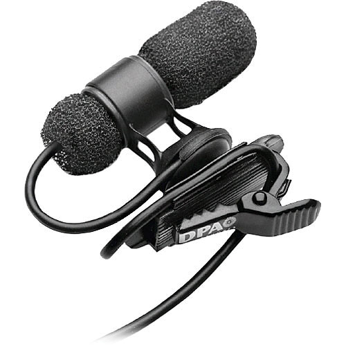 DPA Microphones d:screet mini 4080 Miniature Cardioid Lavalier Microphone with a Hardwired 3.5mm Locking Ring Connector for Sennheiser Wireless Systems (Black)