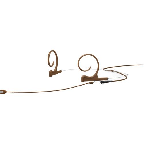 DPA Microphones d:fine Core 4166 Slim Omni Flex Headset Mic, 110mm Boom with MicroDot (Brown)