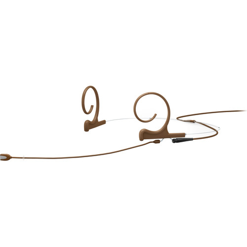 DPA Microphones d:fine Core 4188 Slim Directional Flex Headset Mic, 120mm Boom with MicroDot (Brown)