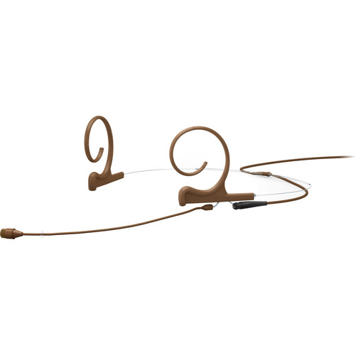 DPA Microphones d:fine Core 4266 Slim Omnidirectional Flex Headset Mic, 90mm Boom with 3-Pin LEMO (Brown)