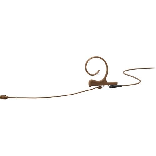 "DPA Microphones d:fine Core 4266 Slim Omnidirectional Flex Earset Mic, 110mm Boom with 1/8"" Mini Jack (Brown)"