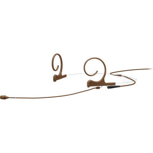 "DPA Microphones d:fine Core 4266 Slim Omnidirectional Flex Headset Mic, 110mm Boom with 1/8"" Mini Jack (Brown)"