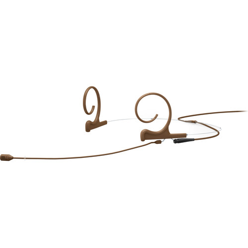 "DPA Microphones d:fine Core 4288 Directional Flex Headset Mic, 120mm Boom with 1/8"" Mini Jack (Brown)"
