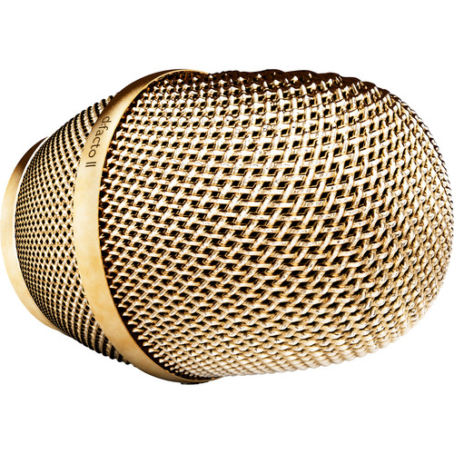 DPA Microphones d:facto II Outer Grid and Assembly for Handheld Vocal Microphone (Gold)
