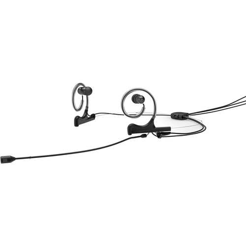 DPA Microphones d:fine 4088 In-Ear Broadcast Headset Mic, 2-Ear Mount, 2-In-Ear with MicroDot to 4-Pin Hirose Connector (Black)