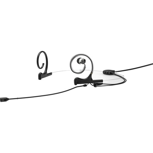 DPA Microphones d:fine 4088 In-Ear Broadcast Headset Mic, 2-Ear Mount, 1-In-Ear with MicroDot to TA5F Connector (Black)