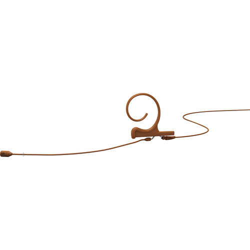 DPA Microphones FID88 1-Ear Cardioid Headset Microphone with a 120mm Boom and a TA4F Connector for Shure Wireless Transmitters (Brown)