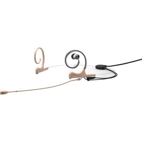 DPA Microphones d:fine 4088 In-Ear Broadcast Headset Mic, 2-Ear Mount, 1-In-Ear with Hardwired LEMO Connector (Beige)