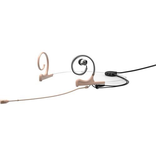 DPA Microphones d:fine 4088 In-Ear Broadcast Headset Mic, 2-Ear Mount, 1-In-Ear with Hardwired TA4F Connector (Beige)