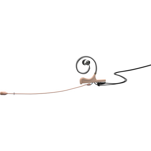 DPA Microphones d:fine 4088 In-Ear Broadcast Headset Mic, 1-Ear Mount, 1-In-Ear, and Hardwired TA5F Connector (Beige)