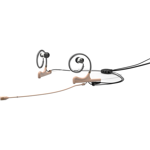 DPA Microphones d:fine 4088 In-Ear Broadcast Headset Mic, 2-Ear Mount, 2-In-Ear with MicroDot to 3.5mm Connector (Beige)