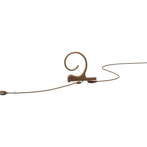 DPA Microphones d:fine Single-Ear Headset Directional Microphone with Medium Boom Arm and Hardwired 3.5mm Locking Ring Connector for Sennheiser Wireless Systems (Brown)