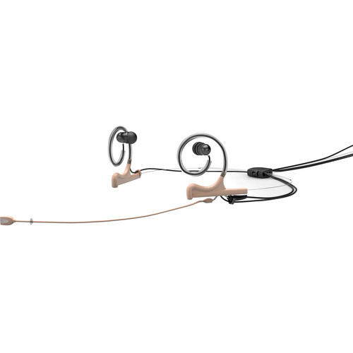 DPA Microphones d:fine In-Ear Broadcast Headset Mic, 2-Ear Mount, 2-In-Ear with MicroDot Connector (Beige)