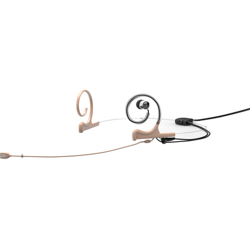 DPA Microphones d:fine Slim In-Ear Broadcast Headset Mic, 2-Ear Mount, 1-In-Ear Monitor with Hardwired TA5F Connector (Beige)