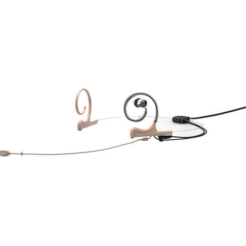DPA Microphones d:fine In-Ear Broadcast Headset Mic, 2-Ear Mount, 1-In-Ear with Hardwired 3-Pin LEMO Connector (Beige)