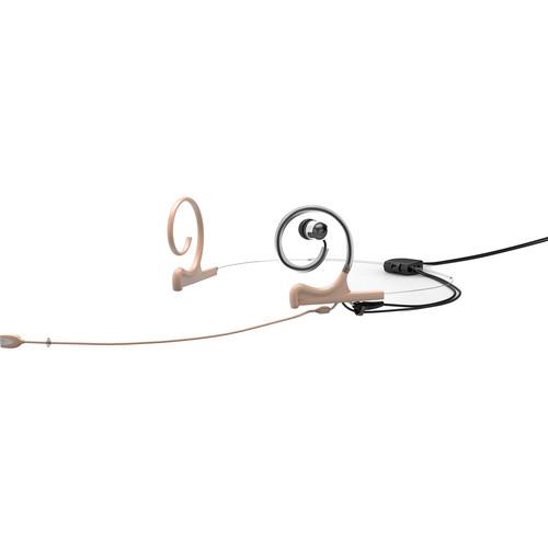 DPA Microphones d:fine In-Ear Broadcast Headset Mic, 2-Ear Mount, 1-In-Ear with Hardwired 3.5mm Mini-Jack Connector (Beige)