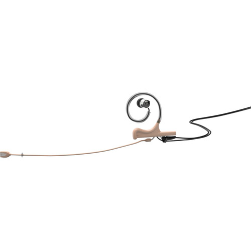 DPA Microphones d:fine In-Ear Broadcast Headset Mic with 1-Ear Mount, 1-In-Ear, and MicroDot Adapter with Hirose Connector (Beige)