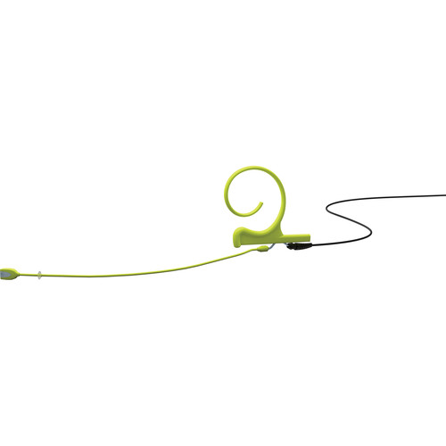 DPA Microphones d:fine 1-Ear Directional Headset Microphone and 120mm Boom with a 3-Pin Lemo Hardwired Connector for Sennheiser Wireless Transmitters (Lime)