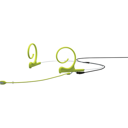 DPA Microphones d:fine 2-Ear Directional Headset Microphone and 100mm Boom with a 3-Pin Lemo Hardwired Connector for Sennheiser Wireless Transmitters (Lime)