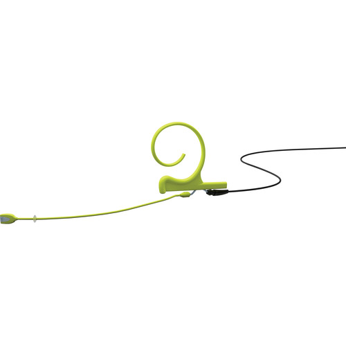 DPA Microphones d:fine 2-Ear Directional Headset Microphone and 100mm Boom with a 3.5mm Hardwired Connector for Sennheiser Wireless Transmitters (Lime)