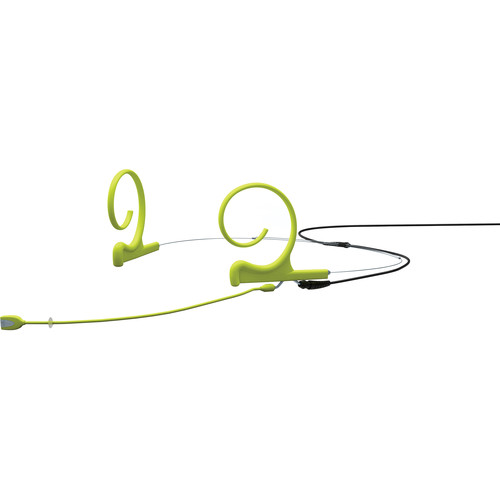DPA Microphones d:fine 2-Ear Directional Headset Microphone and 100mm Boom with a 3-Pin Lemo Adapter Connector for Sennheiser Wireless Transmitters (Lime)