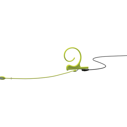 DPA Microphones d:fine 1-Ear Directional Headset Microphone and 120mm Boom with a MicroDot Adapter Connector for Shure Wireless Transmitters (Lime)