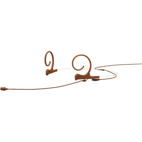 DPA Microphones d:fine 66 2-Ear Omnidirectional Headset Microphone and 110mm Boom with 3-Pin Lemo Adapter Connector for Sennheiser Wireless Transmitters (Brown)
