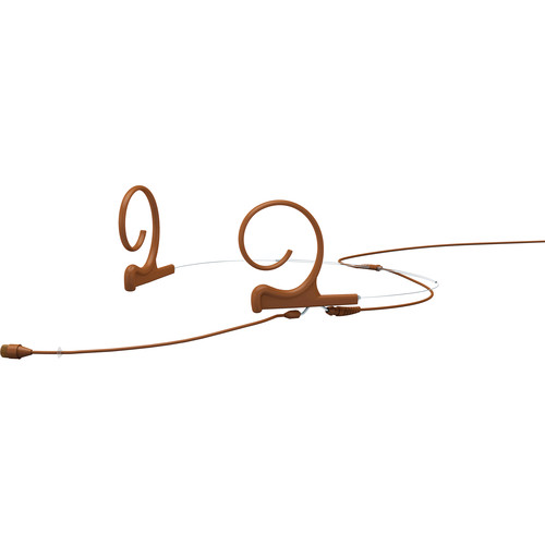 DPA Microphones d:fine 66 Dual-Ear Omni Headset Mic with Adapter 3-Pin Lemo Connector (Brown)