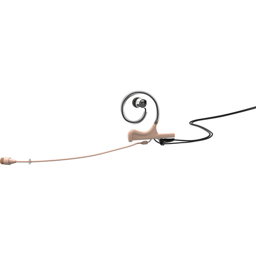 DPA Microphones d:fine 66 Single-Ear Omni In-Ear Broadcast Headset with 110mm Boom Mic and LEMO Hardwired Connector for Sennheiser Wireless Transmitters (Beige)
