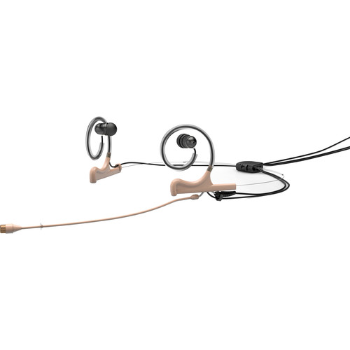 DPA Microphones d:fine 4066 Omni In-Ear Broadcast Headset, 2-Ear Mount, 2-In-Ear with MicroDot to Hirose Connector (Beige)