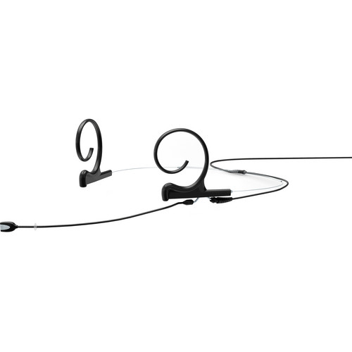 DPA Microphones d:fine Dual-Ear Headset Omnidirectional Microphone with Medium Boom Arm and Hardwired 3-Pin LEMO Connector for Sennheiser Wireless Systems (Black)