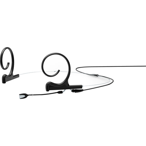 DPA Microphones d:fine Dual-Ear Headset Omnidirectional Microphone with Short Boom Arm and Hardwired 3-Pin LEMO Connector for Sennheiser Wireless Systems (Black)