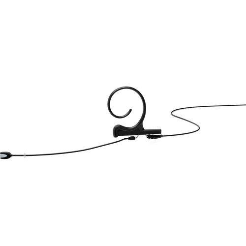 DPA Microphones d:fine Single-Ear Headset Omnidirectional Microphone with Medium Boom Arm and Hardwired TA4F Connector for Shure Wireless Systems (Black)