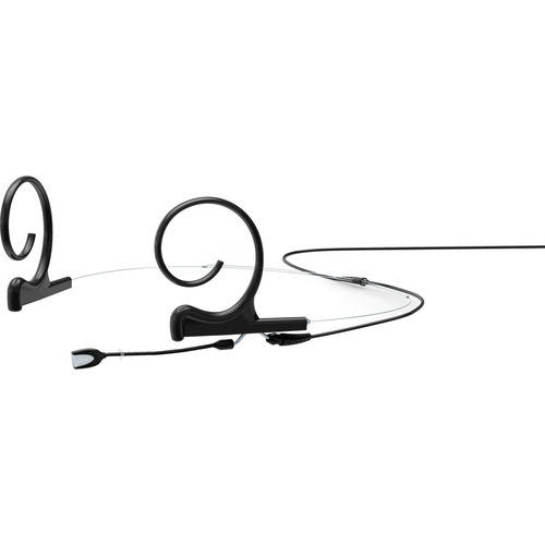 DPA Microphones d:fine Dual-Ear Headset Omnidirectional Microphone with Short Boom Arm and Hardwired TA5F Connector for Lectrosonics Wireless Systems (Black)