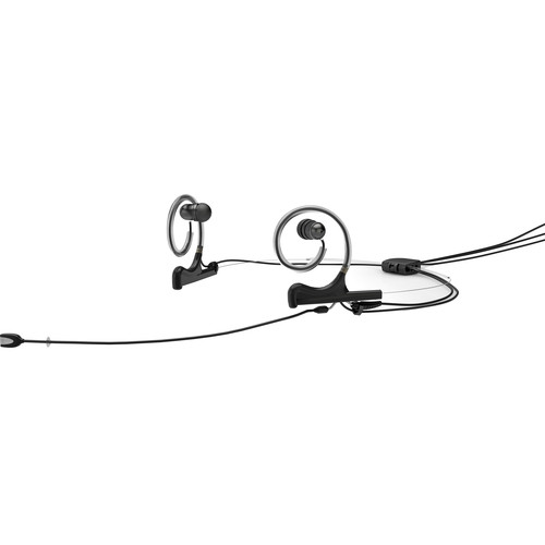 DPA Microphones d:fine In-Ear Broadcast Headset Mic, 2-Ear Mount, 2-In-Ear with MicroDot to 4-Pin Hirose Connector (Black)