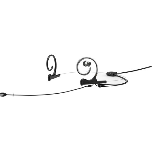DPA Microphones d:fine In-Ear Broadcast Headset Mic, 2-Ear Mount, 1-In-Ear with MicroDot to TA5F Connector (Black)