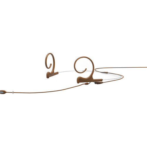 DPA Microphones d:fine Dual-Ear Headset Omnidirectional Microphone with Long Boom Arm and Hardwired 3-Pin LEMO Connector for Sennheiser Wireless Systems (Brown)