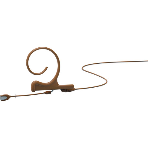 DPA Microphones d:fine Single-Ear Headset Omnidirectional Microphone with Short Boom Arm and Hardwired 3.5mm Locking Ring for Sennheiser Wireless Systems (Brown)
