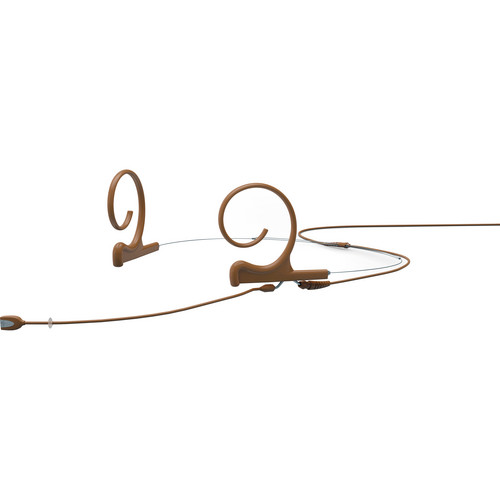 DPA Microphones d:fine Dual-Ear Headset Omnidirectional Microphone with Medium Boom Arm and Microdot Termination with TA4F Connector for Shure Wireless Systems (Brown)