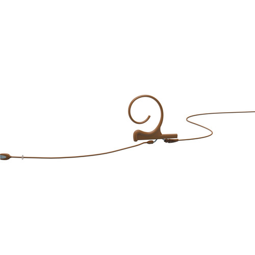 DPA Microphones d:fine Single-Ear Headset Omnidirectional Microphone with Long Boom Arm and Microdot Termination with 3.5mm Locking Connector for Sennheiser Wireless Systems (Brown)