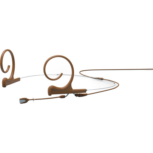 DPA Microphones d:fine Omnidirectional Dual-Ear Headset Microphone with Short Boom Arm and Microdot Termination with TA5-F Connector for Lectrosonics Wireless Transmitters (Brown)