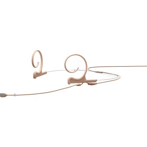 DPA Microphones d:fine Dual-Ear Headset Omnidirectional Microphone with Medium Boom Arm and Hardwired 3-Pin LEMO Connector for Sennheiser Wireless Systems (Beige)