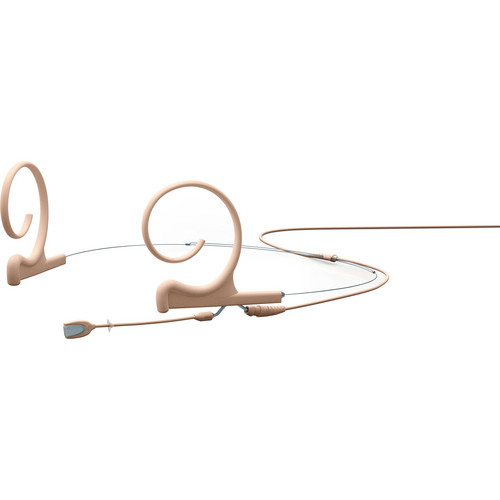 DPA Microphones d:fine Dual-Ear Headset Omnidirectional Microphone with Short Boom Arm and Hardwired 3.5mm Locking Ring Connector for Sennheiser Wireless Systems (Beige)