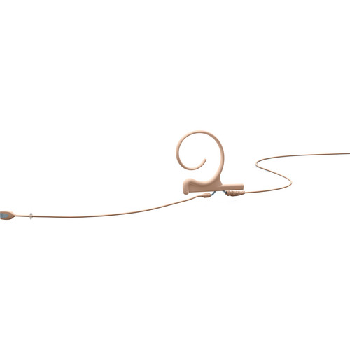 DPA Microphones d:fine Single-Ear Headset Omnidirectional Microphone with Long Boom Arm and Microdot Termination with 3-Pin LEMO Connector for Sennheiser Wireless Systems (Beige)