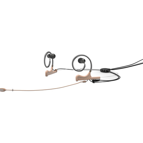 DPA Microphones d:fine Omni In-Ear Broadcast Headset, 2-Ear Mount, 2-In-Ear with MicroDot to TA4F Connector (Beige)