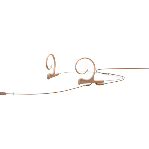 DPA Microphones d:fine Dual-Ear Headset Omnidirectional Microphone with Long Boom Arm and Microdot Termination with TA5F Connector for Lectrosonics Wireless Systems (Beige)