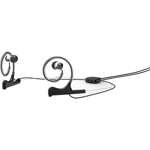 DPA Microphones d:fine In-Ear Broadcast Headset Mount, Dual-Ear, Dual In-Ear with Hardwired TA4F Connector (Black)